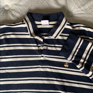 Men's Long Slv knit striped Brooks Brothers shirt